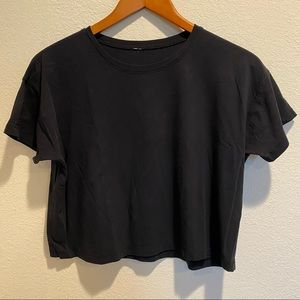 Lululemon Black Crop Tee